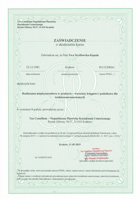 Certyfikat-nr-1-Ewa-rozliczenia-miedzynarodowe