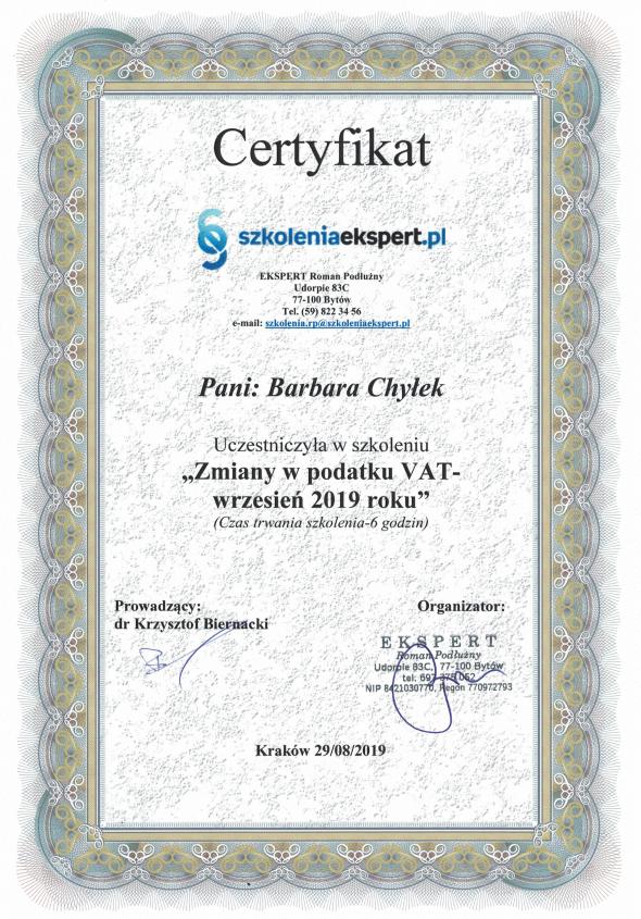Certyfikat-nr-5-Barbara-Zmiany-VAT